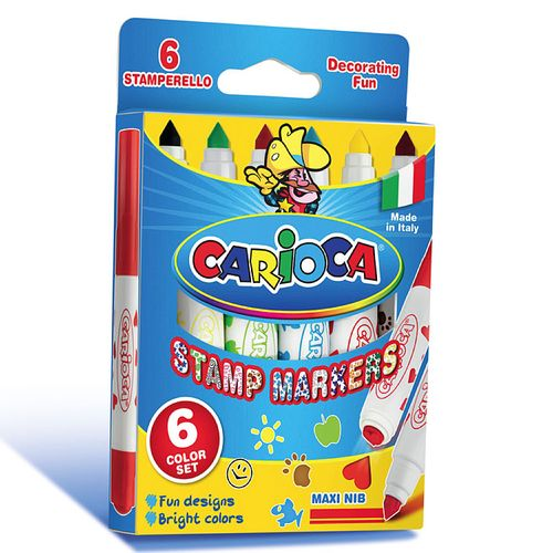 Marker Carioca Stampile, 6 culori