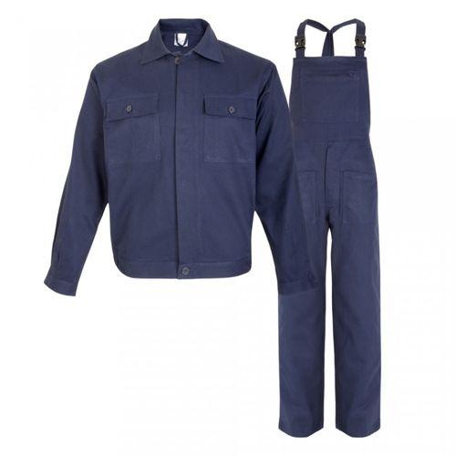 Costum salopeta cu pieptar, 100% bumbac, bleumarin