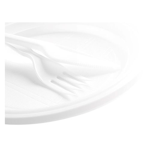 Farfurie pentru desert, plastic,  17 cm, 50 bucati/set