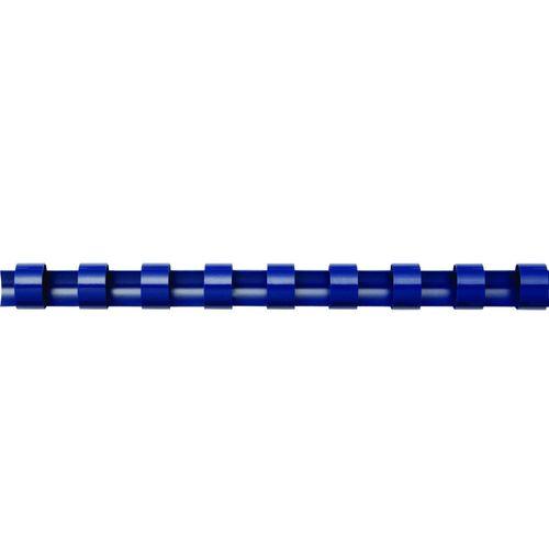 Spire de plastic Fellowes, 22 mm, albastru, 50 bucati/set