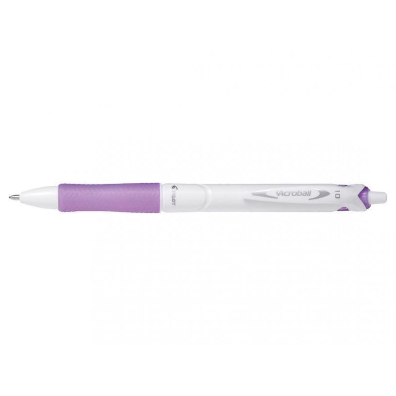 Pix-cu-bila-Pilot-Acroball-Pure-White-retractabil-1.0-mm-violet