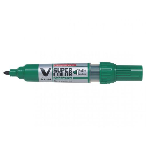 Marker permanent Pilot VSuper Color, varf rotund, 0.9 mm