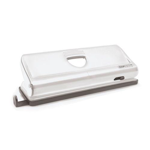 Perforator metalic Rapesco, cu 6 perforatii reglabile, 10 coli
