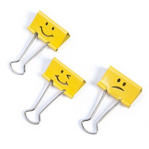 Clipsuri metalice Rapesco Emoji, 19 mm