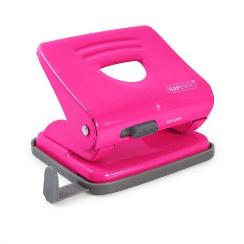 Perforator metalic Rapesco 825, 25 coli, roz electrizant