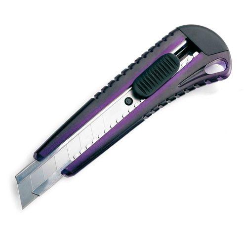 Cutter mare, 18mm, cu sina metal, blister, Rapesco