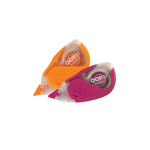 Banda corectoare Staples, 5 mm x 8 m, rosu si portocaliu, 2 bucati/set