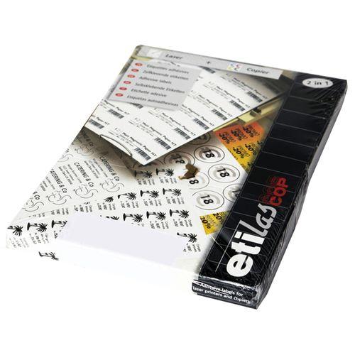 Etichete autoadezive Etilux Etilascop, 14/A4, alb