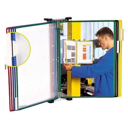 Sistem de prezentare Tarifold, pentru perete, A5, culori asortate, 10 display-uri