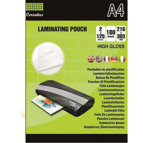Folie laminat Cerratus, A4, 125 microni, 100 bucati/top