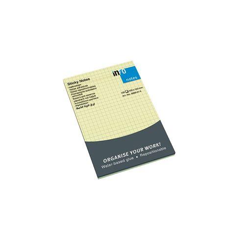 Notite adezive Info Notes, 100 x 150 mm, liniate matematica