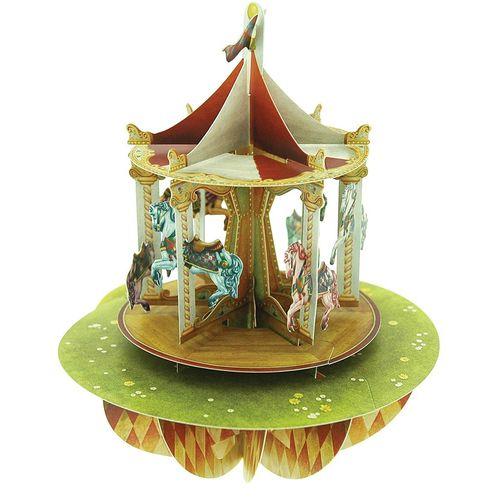 Felicitare 3D Pirouettes, carusel