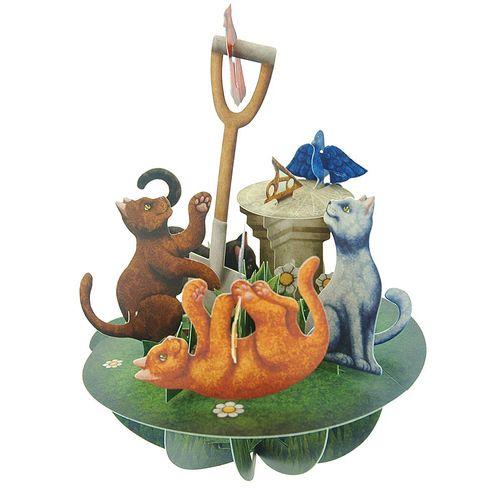 Felicitare 3D Pirouettes, pisici