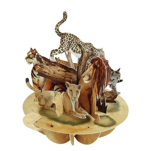 Felicitare 3D Pirouettes, feline