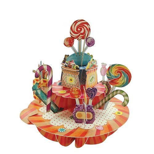 Felicitare 3D Pirouettes, dulciuri