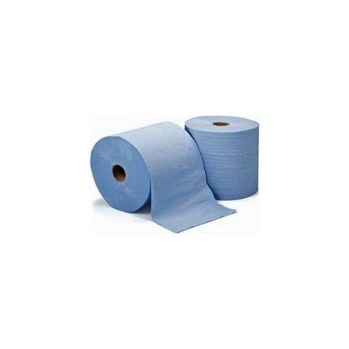 Prosop hartie, 3 straturi, 120 m, albastru, 2 role/set