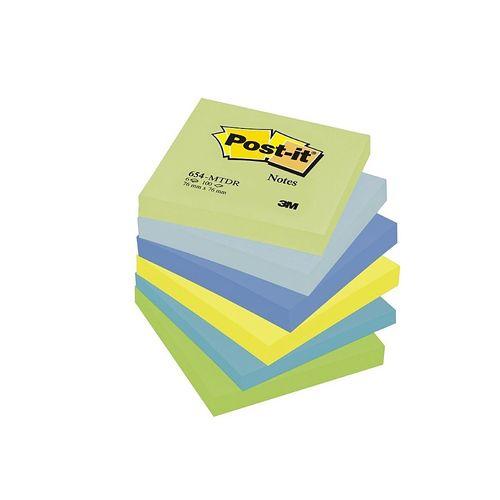 Notite adezive 3M Post-it Dreamy, 76x 76 mm, 100 file, 6 buc/set