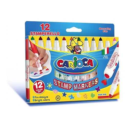 Marker Carioca Stampile, 12 culori