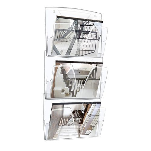 Tavita murala CEP Reception, cristal, 3 bucati/set