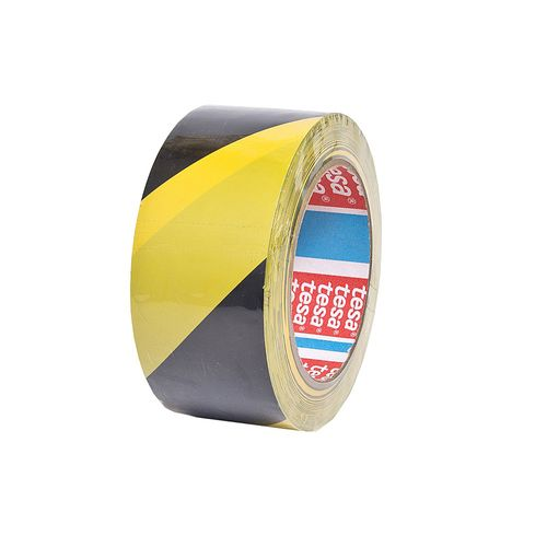 Banda adeziva marcaj, 50 mm x 33 m, galben/negru