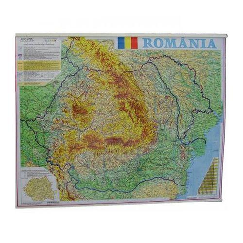 Harta Romania fizico-geografica 100 x 140 cm