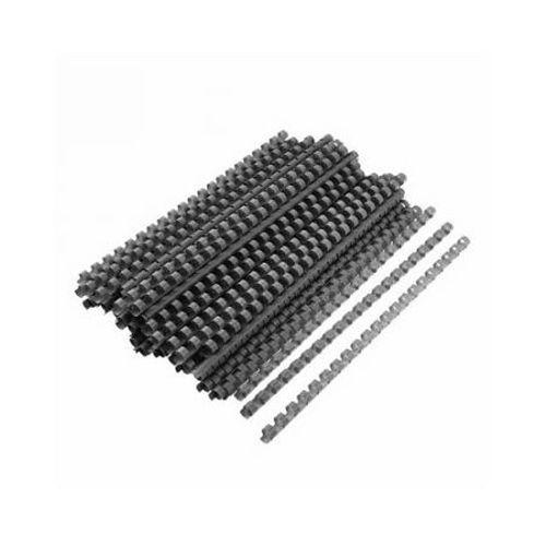 Spire de plastic Fellowes, 28 mm, negru, 50 bucati/set