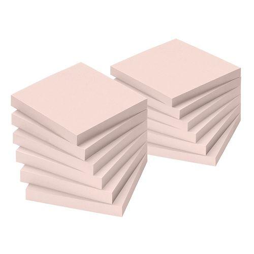 Notite adezive Info Notes, 75 x 75 mm, roz, 100 file