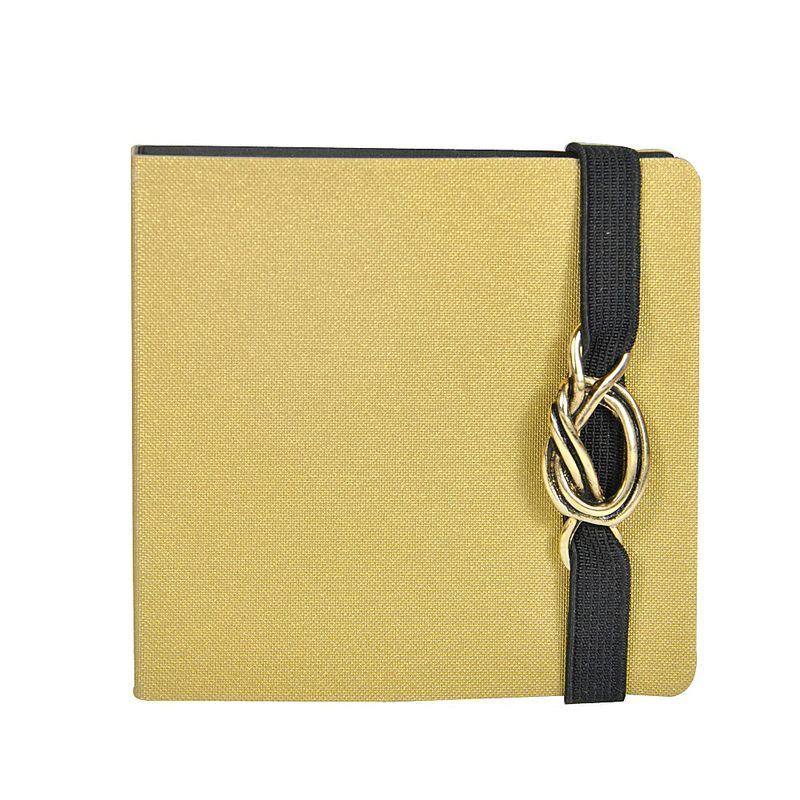 Notite-adezive-Make-Notes-cu-coperta-si-elastic-auriu