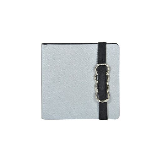 Notite adezive Make Notes, cu coperta si elastic, argintiu