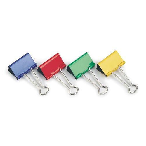 Clipsuri metalice Rapesco, 19 mm, diverse culori, 10 bucati/set