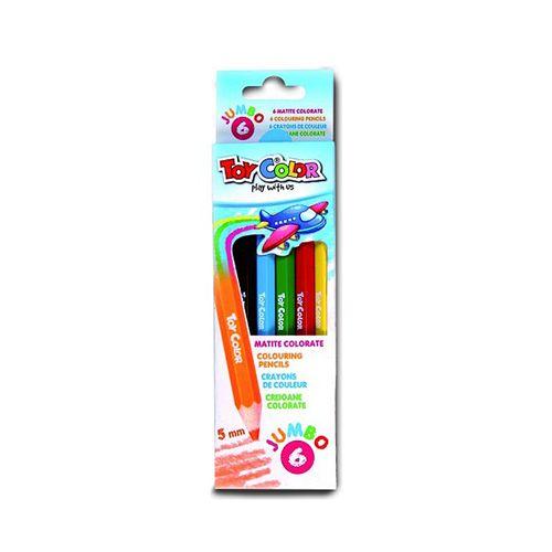 Creioane colorate Toy Color Jumbo, 6 culori