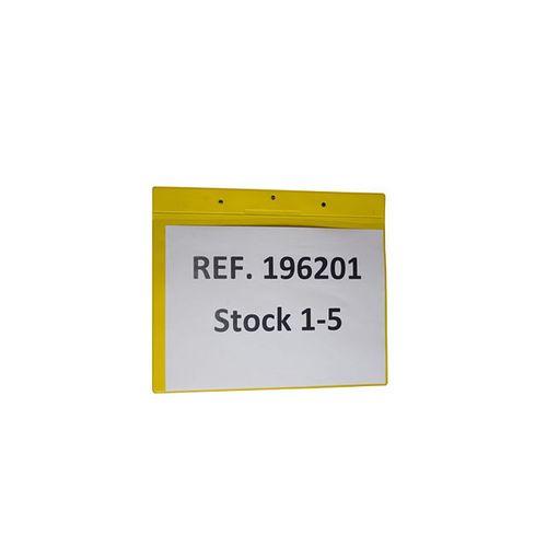 Buzunar orizontal Tarifold pentru identificare, A4, galben, 10 bucati/set