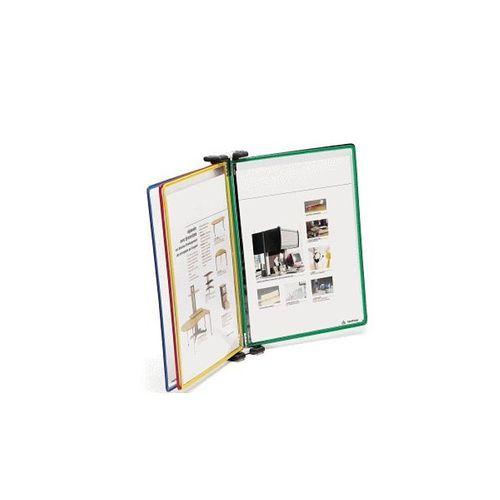 Sistem de prezentare Tarifold, pentru perete, A4, culori asortate, 5 display-uri