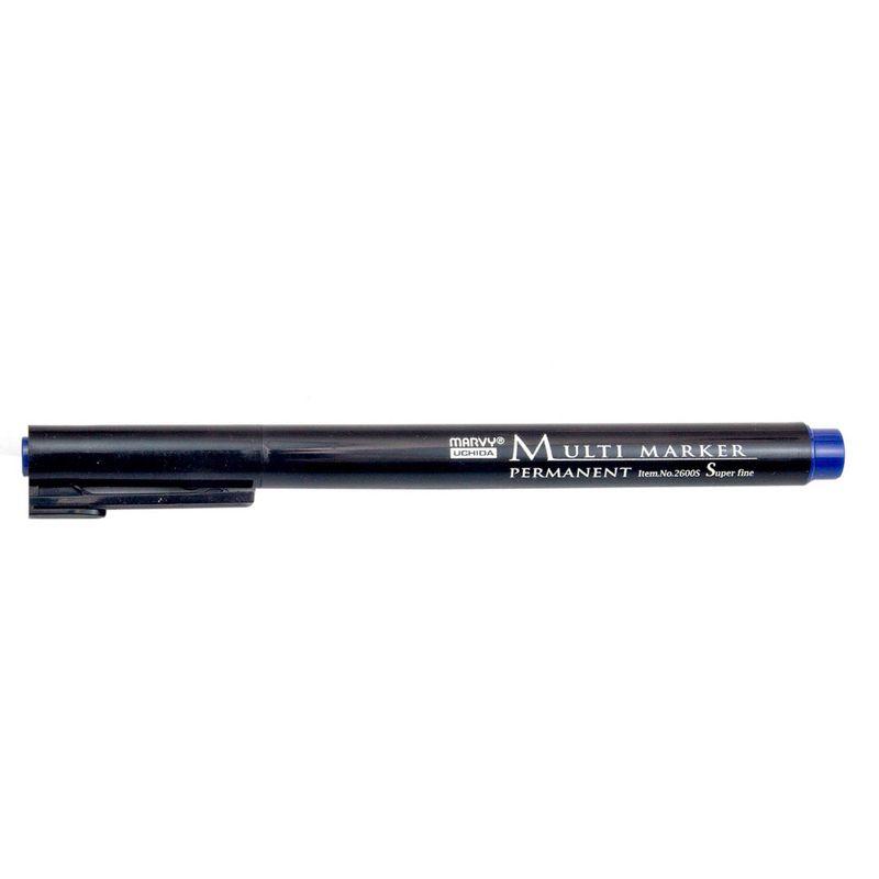 Marker-permanent-Uchida-2600S-albastru
