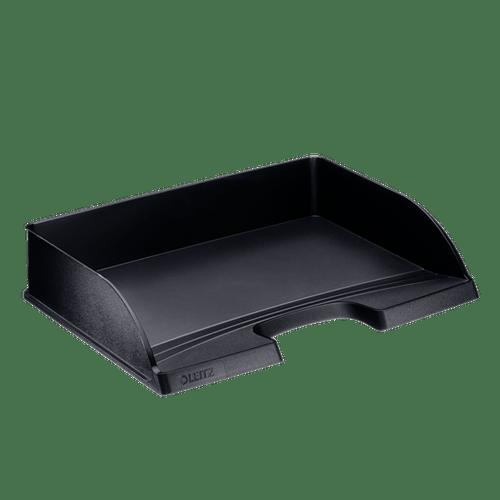 Tavita documente Leitz Plus, deschidere laterala, negru