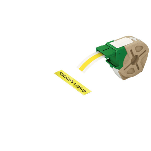 Cartus Leitz Icon, 12 mm x 10 m, etichete din plastic, adeziv permanent, galben