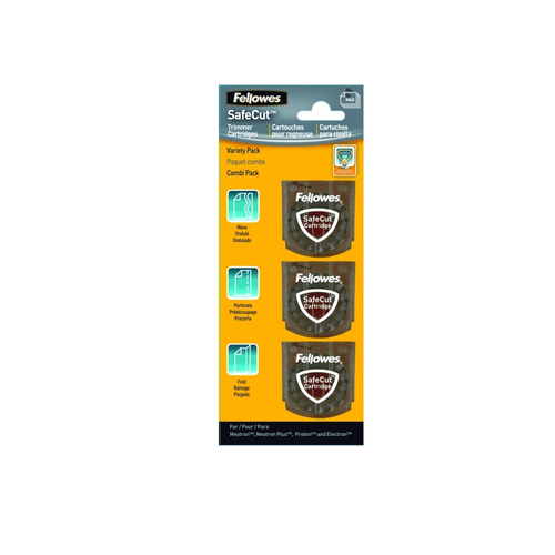 Lama rotativa pentru trimmer Fellowes, 3 tipuri de taiere/set