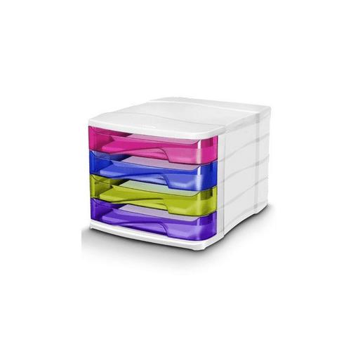 Suport documente CEP Happy, cu 4 sertare, multicolor