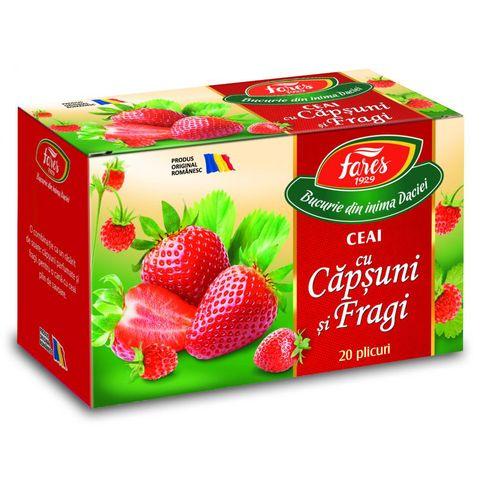 Ceai Fares Capsuni si Fragi, 20 plicuri/cutie