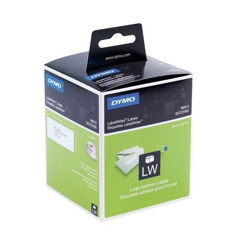 Etichete Dymo LaberlWriter, pentru adresa mare, 89 mm x 36 mm, 260 bucata/rola