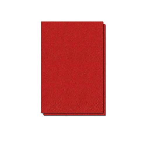 Coperti carton, A4, 210 gr, imitatie piele, rosu, 100 bucati/top