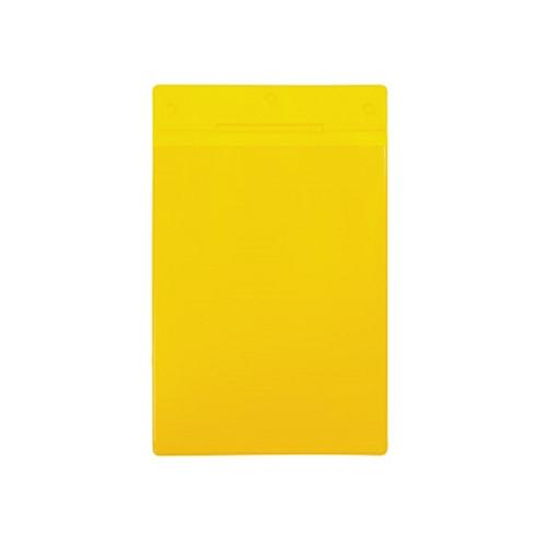 Buzunar vertical magnetic Tarifold, pentru identificare, A4, galben, 10 bucati/set