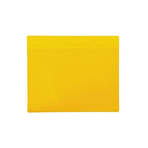 Buzunar orizontal magnetic Tarifold pentru identificare, A4, galben, 10 bucati/set