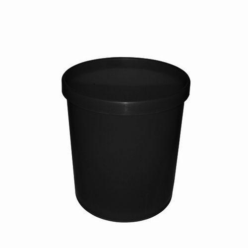 Cos de birou, din plastic neperforat, 18 l, negru