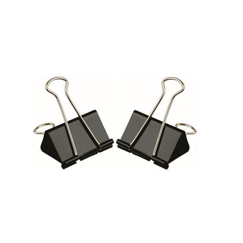 Clipsuri metalice, 19 mm, negru, 12 bucati/cutie