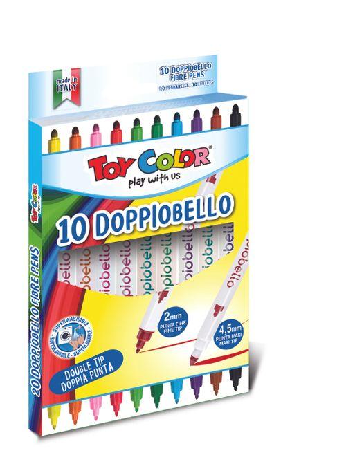 Carioci Toy Color Doppiobello, cu 2 capete, 10 culori
