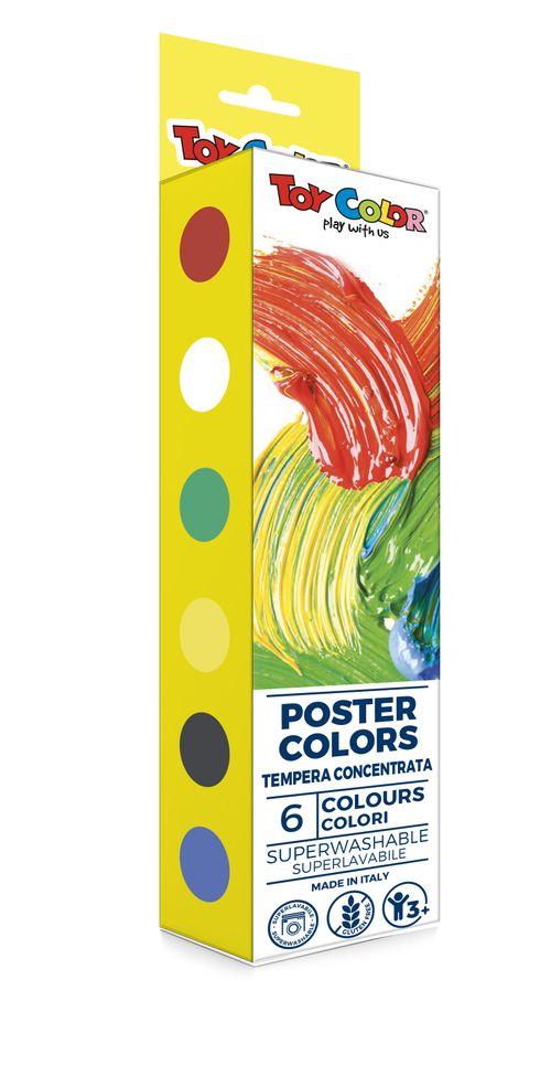 Tempera Toy Color Poster Colors, 25 ml, 6 culori