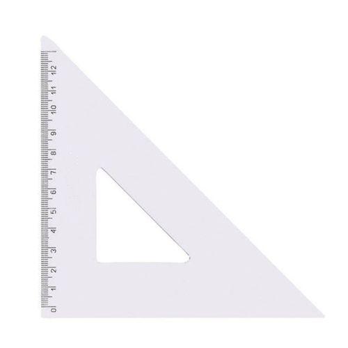 Echer isoscel 12 cm, plastic transparent