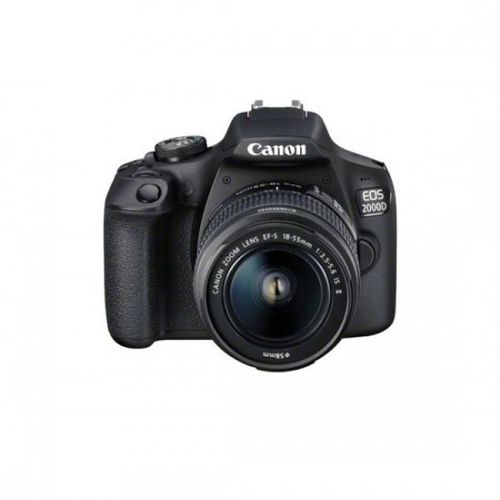 "Camera foto Canon EOS-2000D kit, obiectiv EF-S 18-55mm f/3.5-5.6 IS II 24.1MP,3.0"" TFT fixed DIGIC 4+, ISO 100-6400,FullHD movies 30fps,compatibil"