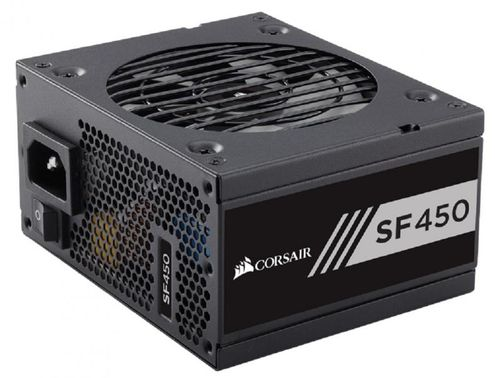 Sursa Corsair SF Series SF450, SFX 450W, full-modulara, 80 Plus Gold, Eff. 90%, Active PFC, ATX12V v2.4, 1x92mm fan, retail